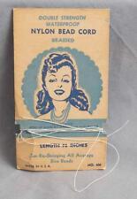 Vintage Nylon Bead Cord Packaging Advertising jds