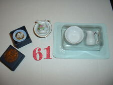 "1/12"" DOLL HOUSE FURNITURE 2 X CHINA BOWL & JUG, DOLLS HOUSE EMPORIUM PLATE"