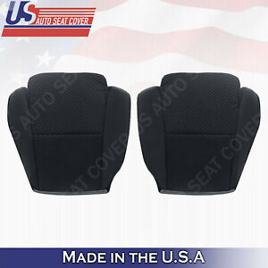 Driver & Passenger Bottom Cloth Seat Cover Black For 2007 to 2012 Toyota Tundra