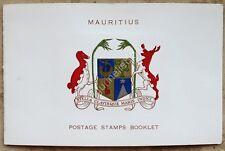 Mauritius 1965 Uccelli LIBRETTO ORIGINALE DI 15 francobolli NUOVI BIRDS BOOKLET
