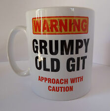 Grumpy Old Git Funny Design Novelty Gift Tea Coffee Office Mug Fathers Day Xmas