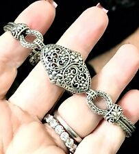 "Bracelet ‼�Excellent ‼�7.5""-8"" 💚Indonesian Sterling Wheat Chain"