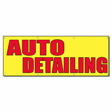 Auto Detailing Car Auto Body Shop Repair Sign Banner 2 X 4 With 4 Grommets