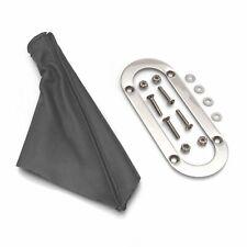 Horizontal Shift or Emergency Brake Grey Boot with Silver Trim Ring custom