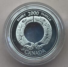 2000 ~ CANADA MILLENIUM 25 CENTS ~ FAMILY ~ CERTIFIED PROOF
