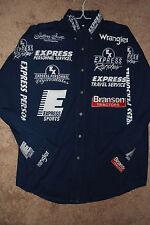 PBR Bull Riding Sponsor Shirt Pro Rodeo CHAD DENTON PRCA Wrangler NFR LAST ONE!