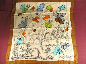 Robert E. Sargent Scarf Lions, Birds, and Flowers Lot 1969 1 is mint Rare