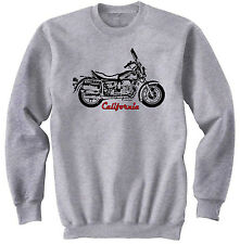 MOTO GUZZI CALIFORNIA 2 - NEW COTTON GREY SWEATSHIRT ALL SIZES IN STOCK