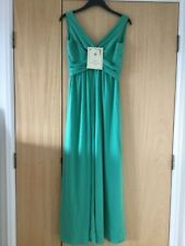 BNWT Vintage 1970s JOHN CHARLES Grecian Emerald Evening Dress Vtg 16 Now 10/12?