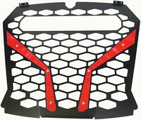 """MODQUAD FRONT GRILL RED POL RZR S WITH OUT 10"""" LIGHT RZR-FGL-XP1KS-RD"""