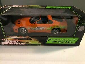 1/18 Ertl 1995 Toyota Supra The Fast And The Furious Movie Orange #36973