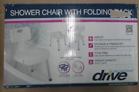 Drive Medical Shower Chair with Folding Back - Damaged Box