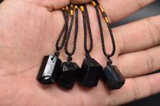 Raw Natural Black Tourmaline Schorl Pendant Chunk Reiki Chakra PROTECTION