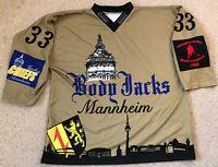 NEU - BODY JACKS MANNHEIM Fantrikot Nr. 33 ERICHSEN C. Eishockey Gr XL