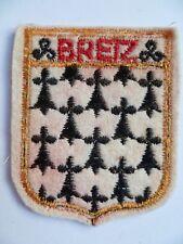 Blason ancien BREIZ Bretagne écusson Patch insigne tissu FRANCE ORIGINAL