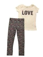 CARTER'S  Love  Top & Leggings Girls Size: 4, 4/5, 6/6, 7, 8