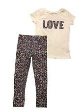 CARTER'S  Love  Top & Leggings Girls Size: 4, 4/5, 6/6, 7, 8