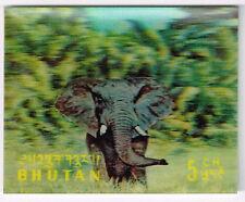 Bhutan Fauna Elefant 3D stamp 1969 MLH