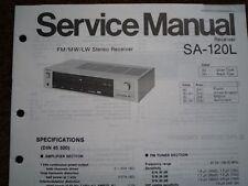 TECHNICS SA-120L Stereo amplifier receiver Service manual wiring parts diagram
