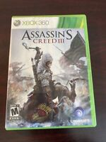 Assassin's Creed 3 Microsoft Xbox 360 Game Complete in box with Manual CIB
