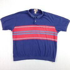 vtg 90s Distressed Fox Tennis Polo Shirt Mens XL Sun-Faded Surfer Stripe Skater