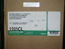 """Lightolier 1101CL 6-3/4"""" Open Vertical Downlight Reflector Trim, Clear, New"""
