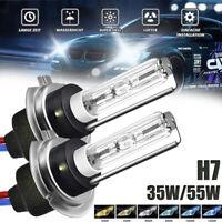 H7 Hid Xenon conversión de bombillas Reemplazo Bulbo 35W 55W metálica base 2PCS