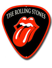 ROLLING STONES  METAL WALL SIGN 290MM X 390MM,MUSIC,PLECTRUM SHAPE