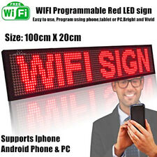 Indoor WiFi Red LED Programmable Message Sign Scrolling Display Board 100cmX20cm