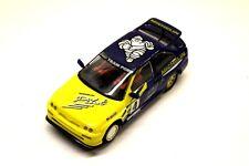 Scalextric GIALLO FORD ESCORT RUNNER Veloce Auto Slot Racing 1/32 eccellente G3