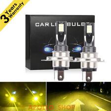 H4 LED Headlight 9003 High Low Beam Lights Conversion Kit Yellow 3000K DRL Lamps