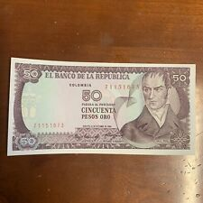 COLOMBIA BANKNOTE - 50 PESOS ORO - 1984 - FREE SHIPPING