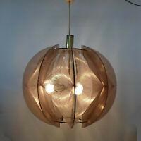 Designer Hängelampe, Paul Secon für Sompex große Fadenlampe, 70er Jahre