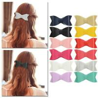 Leather Bow Hair Accessory For Girls Leatherette Hair Clips Hair Accessories