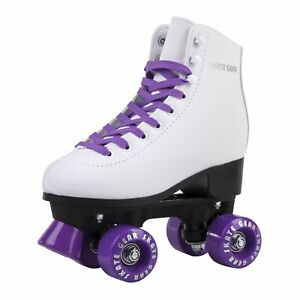 Skate Gear - Quad Roller Skates | Unisex - White / Purple