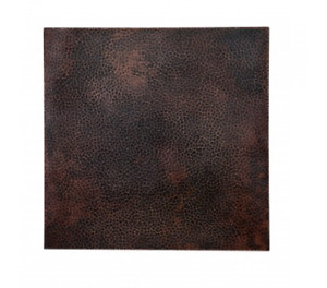 """36"""" Square Hammered Copper Tabletop Bactericidal Surface"""