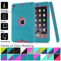 Kids Shockproof Heavy Duty Soft Rubber Protector Hard Case Cover For iPad Series