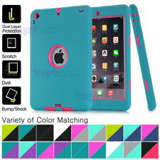 Kids Hybrid Heavy Duty Shockproof Soft Silicone Hard Case Cover For Apple iPad
