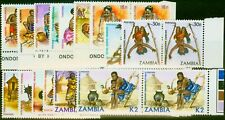 Zambia 1981 Native Crafts Set of 15 SG337-351 in Fine MNH Pairs