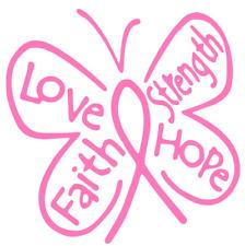Love Faith Strength Hope Butterfly Funny Car Truck Suv Vinyl Sticker Decal