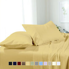 Attached Waterbed Sheet Set Wrinkle Free Super Soft Water Bed Sheets 10 Colors