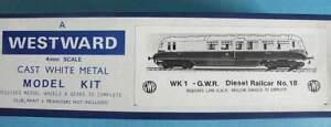 Boxed Westward Models OO Gauge White Metal Kit WK1- GWR AEC Diesel Railcar no.18