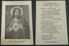 OLD BLESSED SACRED HEART OF JESUS HOLY CARD ANDACHTSBILD SANTINI SANTINO  CC2129