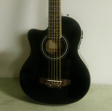 Left Handed 5 String Acoustic Electric Black Finish Bass Guitar With EQ