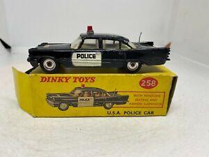 Dinky Toys 258 USA Police Car DeSoto Fireflite Boxed