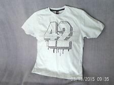 Boys 9-10 Years - Light Blue T-Shirt with 42 Logo - Flipback