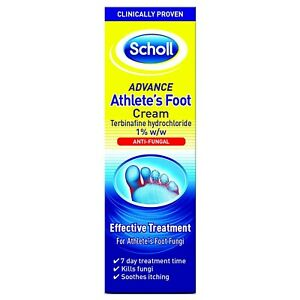 Scholl Athlete's Foot Cream Terbinafine Hydrochloride 1% w/w Foot Fungi