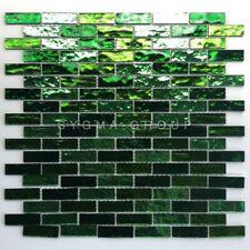 mosaique en verre pour mur de cuisine ou salle de bains modele LUMINOSA VERT