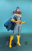 "ORIGINAL Abstract Batgirl Barbara Gordon Superhero Comic Pop Art Painting 11x17"""
