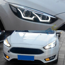 US stock For 2015-UP Ford Focus Headlights Front Bumper with Bi-xenon Projector